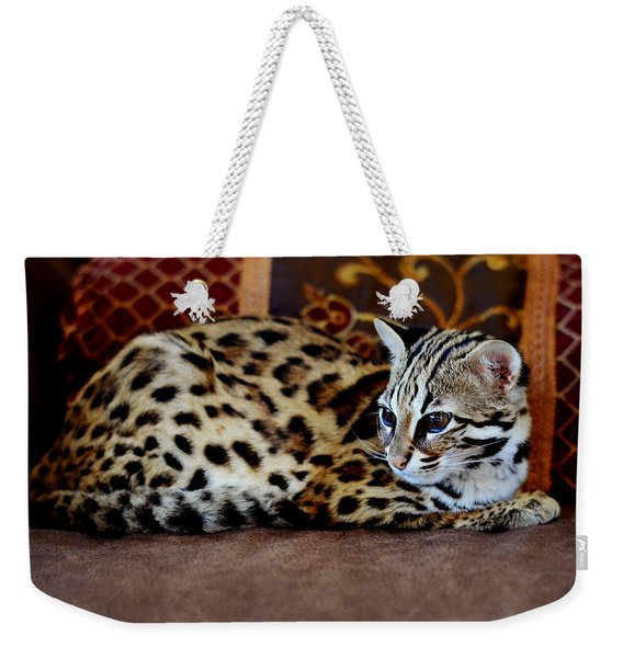 Lounging Leopard Weekender Tote Bag