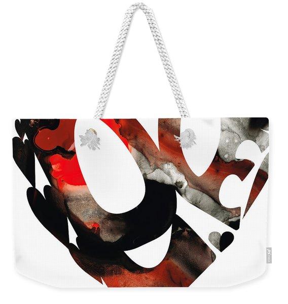 Love 18- Heart Hearts Romantic Art Weekender Tote Bag