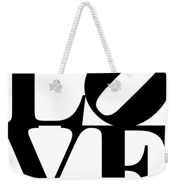 Love 20130707 Black White Weekender Tote Bag