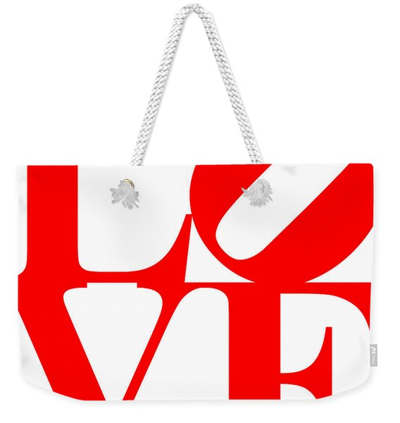 Love 20130707 Red White Weekender Tote Bag