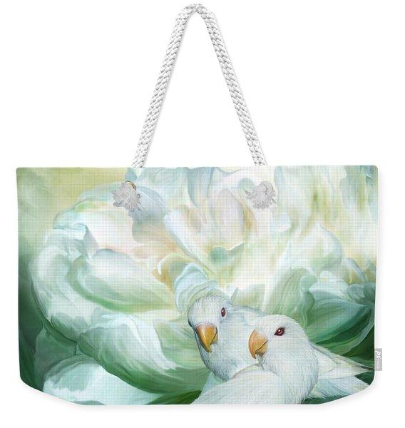 Love  Among The Peonies Weekender Tote Bag