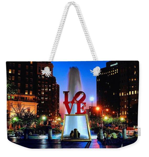 Love At Night Weekender Tote Bag