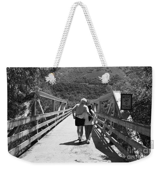 Love Bridge Weekender Tote Bag