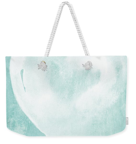 Love In Aqua Weekender Tote Bag