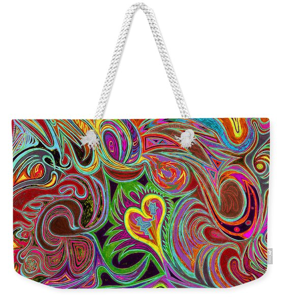 love in every shade of U v7 - love in every shade of blue Weekender Tote Bag