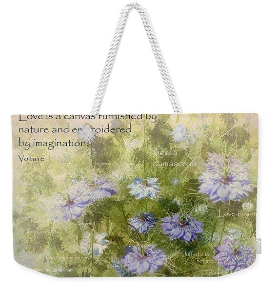 Love Is A Canvas Weekender Tote Bag