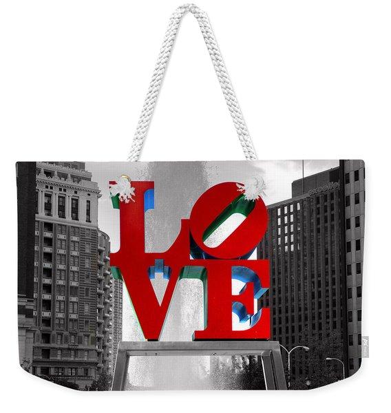 Love Is Always Black And White Square Weekender Tote Bag