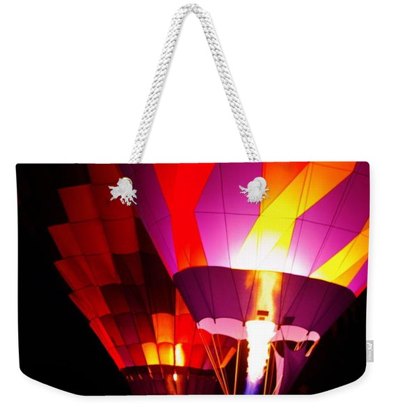 Weekender Tote Bag featuring the photograph Love Is In The Air by Nancy Cupp