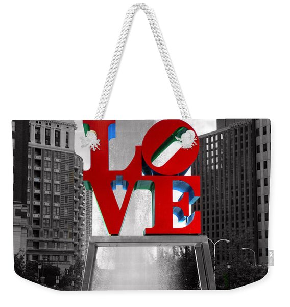 Love Isn't Always Black And White Weekender Tote Bag