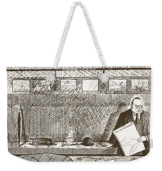 Love Of Travelling Alone, Illustration Weekender Tote Bag