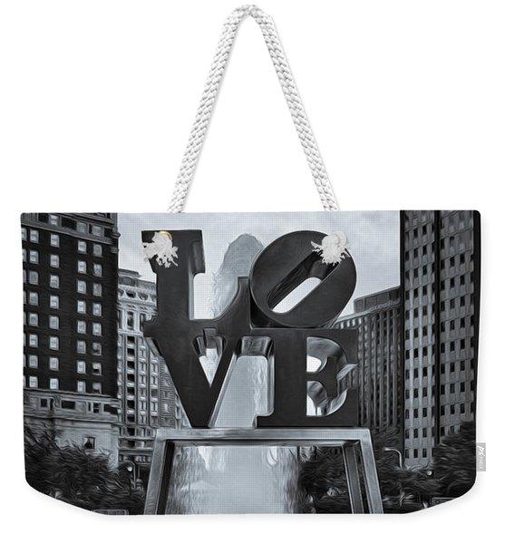 Love Park Bw Weekender Tote Bag