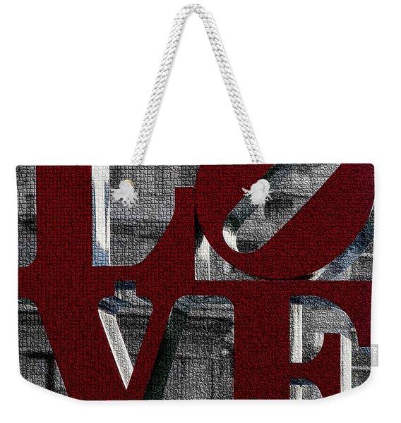 Love Philadelphia Red Mosaic Weekender Tote Bag