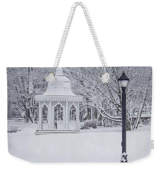Love Through The Winter Weekender Tote Bag