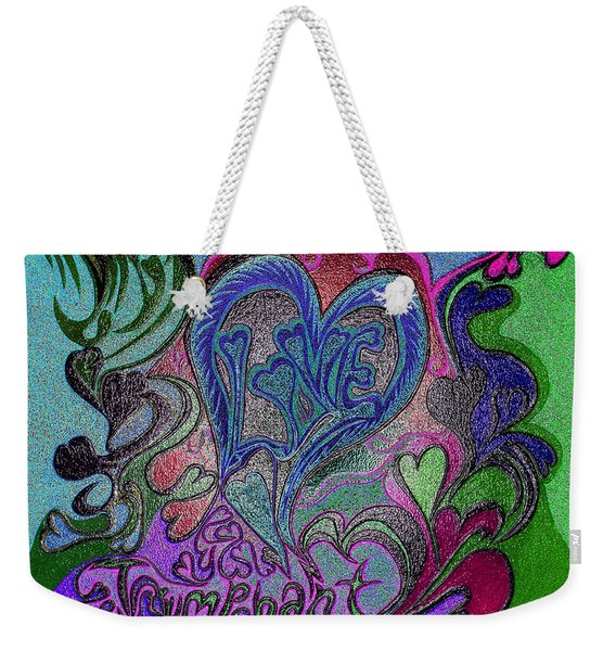 Love Triumphant 1of3 V7 Weekender Tote Bag