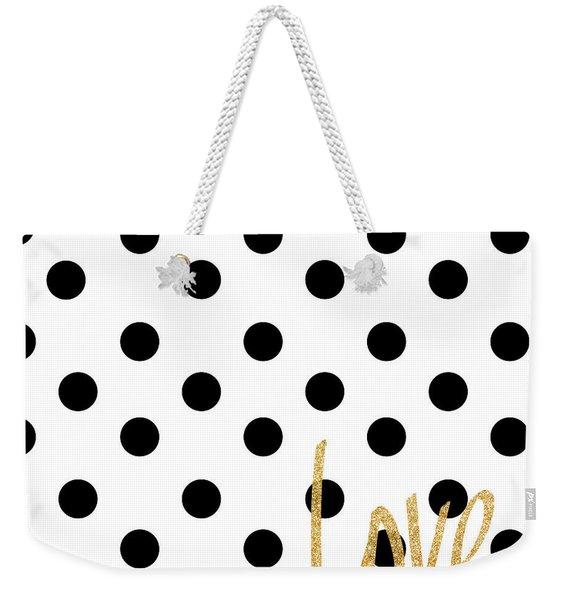 Love With Dots Weekender Tote Bag