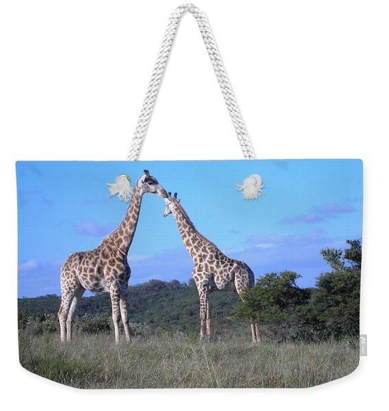 Lovers On Safari Weekender Tote Bag