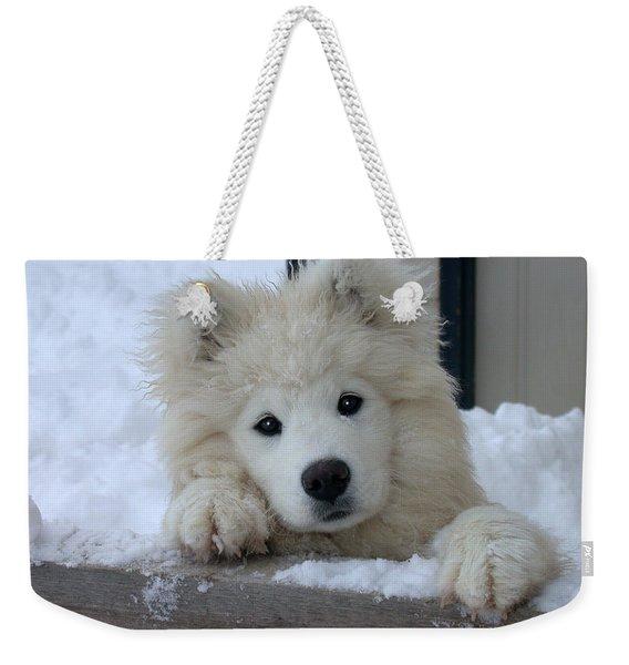 Loving The Snow Weekender Tote Bag