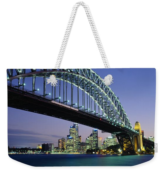 Low Angle View Of A Bridge, Sydney Weekender Tote Bag