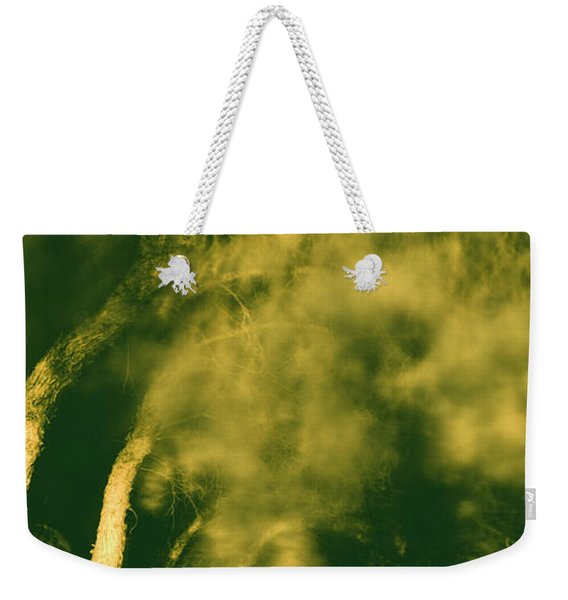 Low Angle View Of A Tree Blowing Weekender Tote Bag