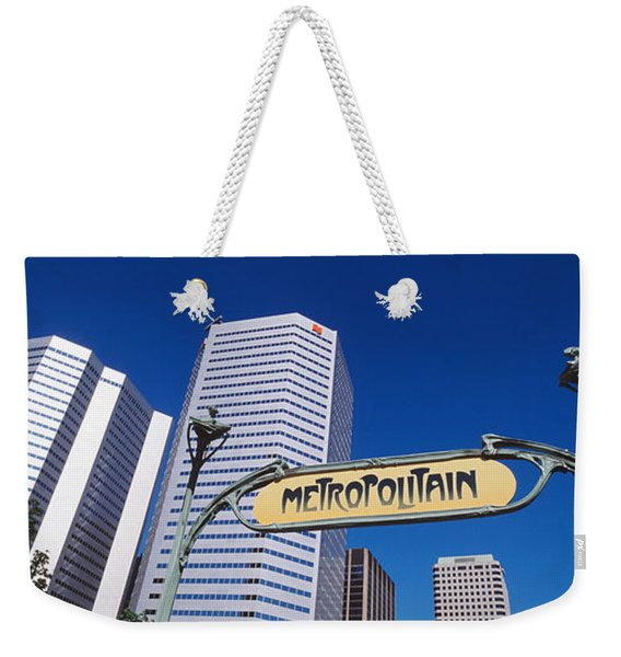 Low Angle View Of Buildings, Cite Weekender Tote Bag