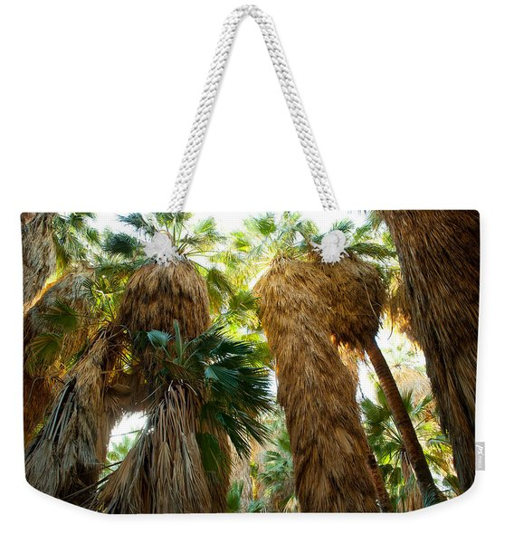 Low Angle View Of Palm Trees, Palm Weekender Tote Bag