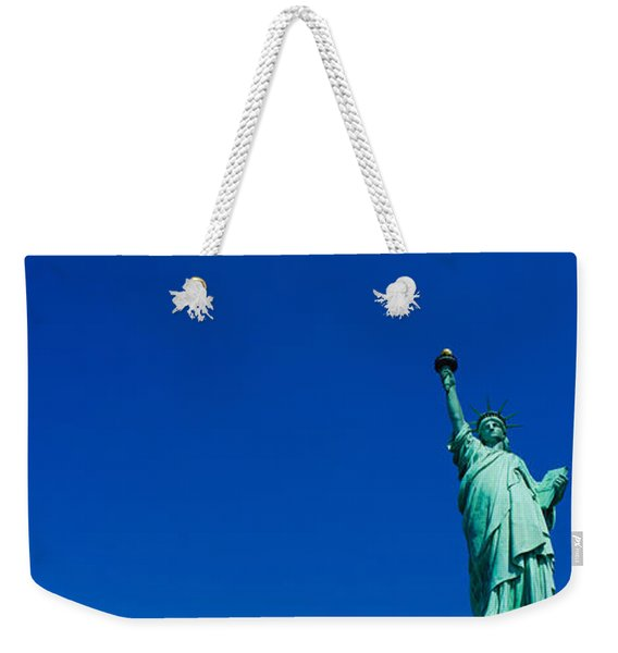 Low Angle View Of Statue Of Liberty Weekender Tote Bag