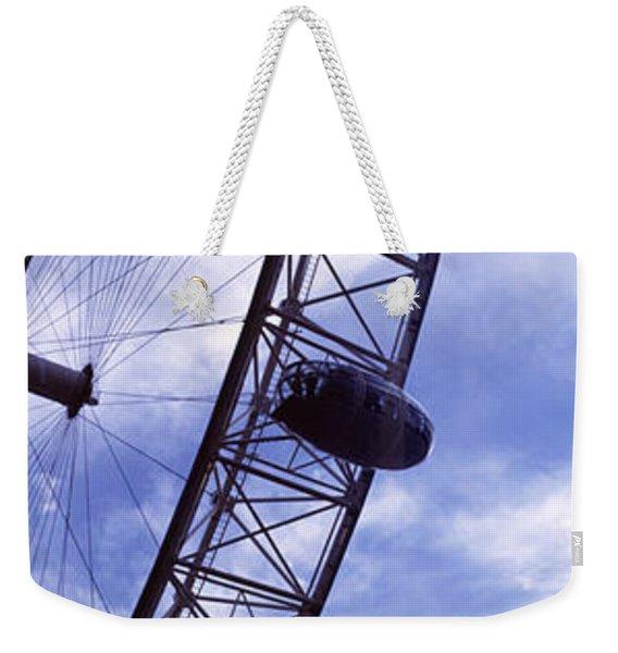 Low Angle View Of The London Eye, Big Weekender Tote Bag