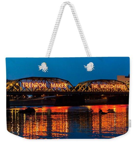 Lower Trenton Bridge Weekender Tote Bag