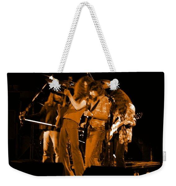 Ls Spo #68 Enhanced In Amber Weekender Tote Bag