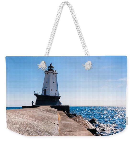 Ludington Lighthouse Weekender Tote Bag