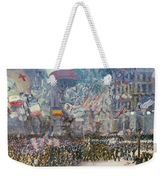 Luks: Armistice Night Weekender Tote Bag