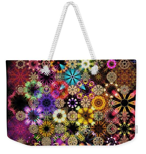 Luminiscent Kaleidoctogarden Weekender Tote Bag