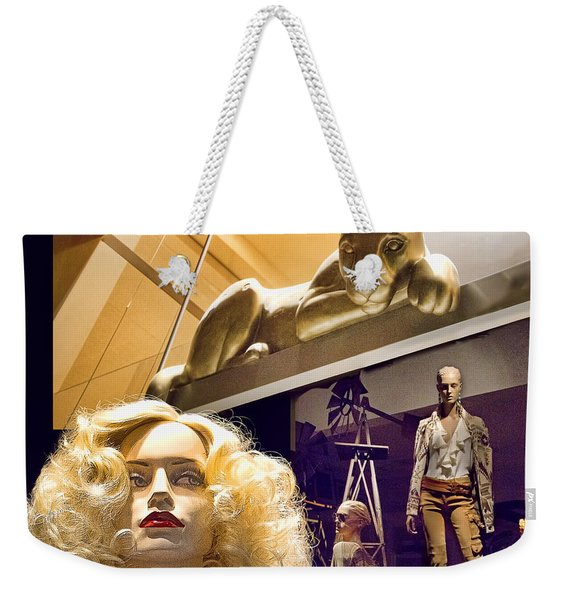 Luna Goes Shopping Weekender Tote Bag