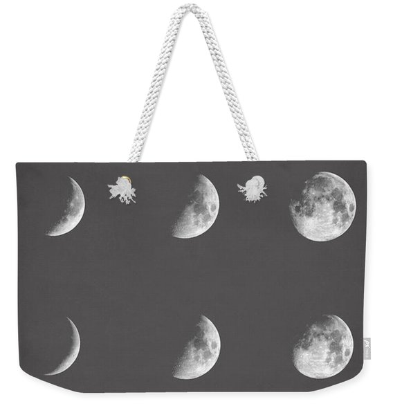 Lunar Phases Weekender Tote Bag