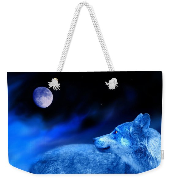 Lunar Wolf 2 Weekender Tote Bag