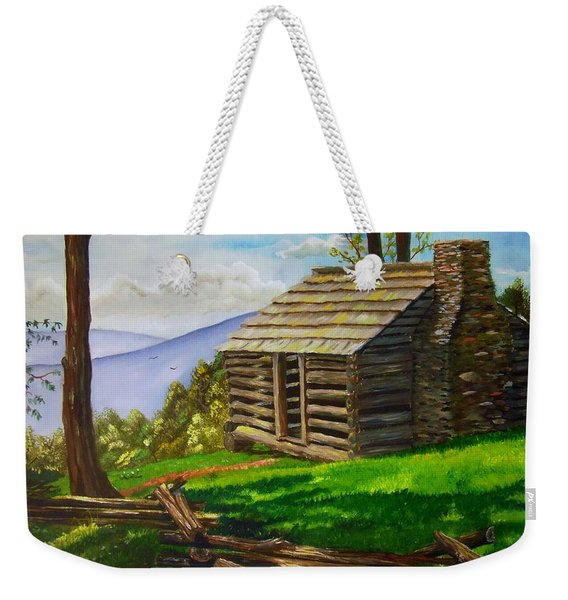 Lunch At An Old Cabin In The Blue Ridge Weekender Tote Bag