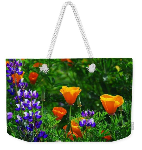 Lupines And Poppies Weekender Tote Bag