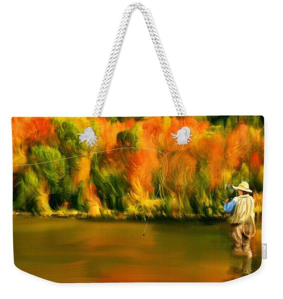 Lure Of Fly Fishing Weekender Tote Bag