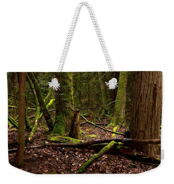 Lush Green Forest Weekender Tote Bag
