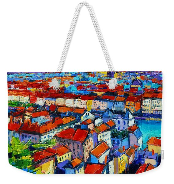 Lyon View - Triptych Left Panel Weekender Tote Bag