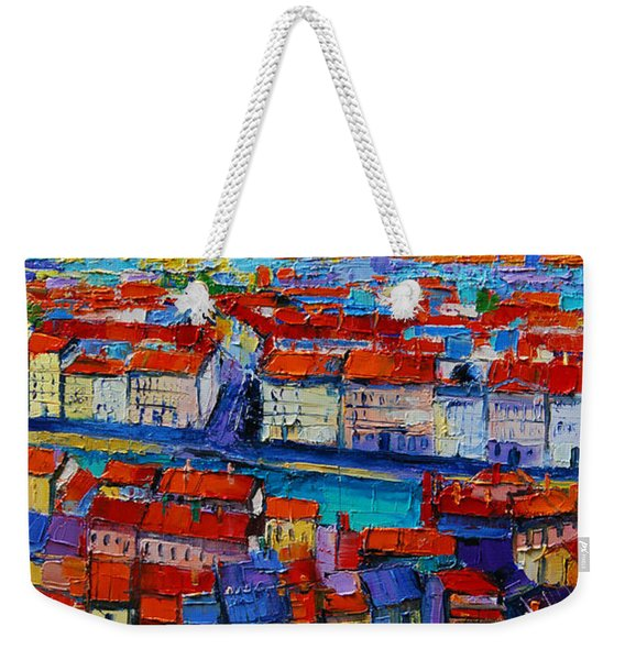 Lyon View - Triptych Center Panel Weekender Tote Bag