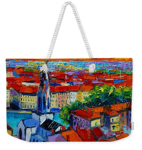 Lyon View - Triptych Right Panel Weekender Tote Bag