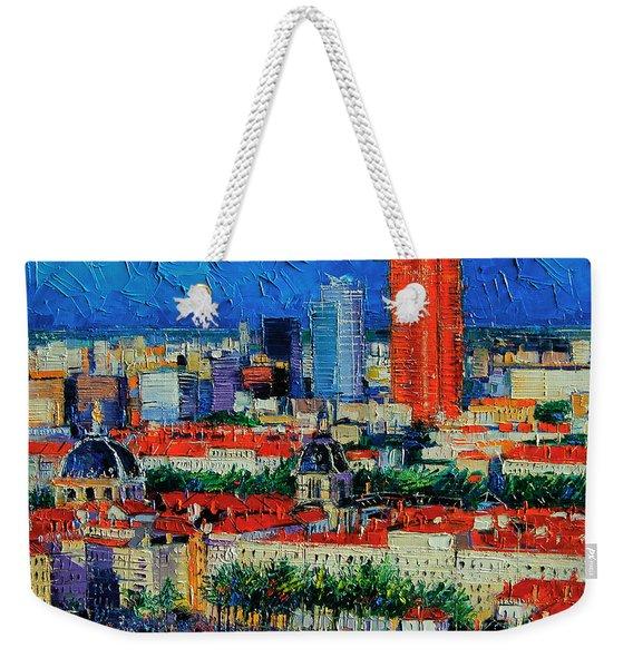 Lyon View From Jardins Des Curiosites  Weekender Tote Bag