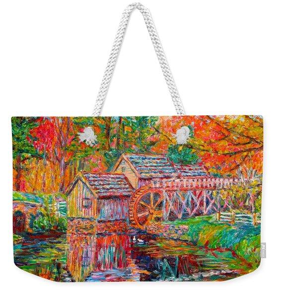 Mabry Mill In Fall Weekender Tote Bag
