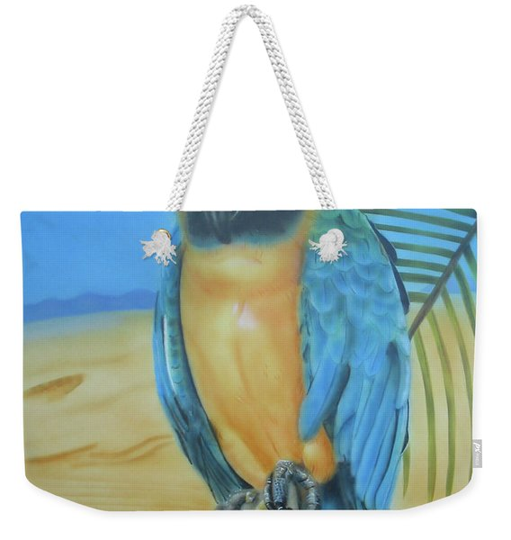 Macaw On A Limb Weekender Tote Bag