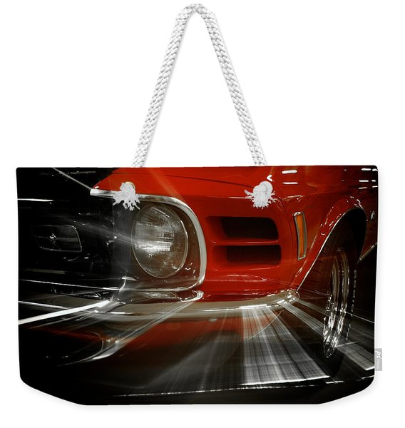 Weekender Tote Bag featuring the photograph Mach Speed by Mary Lee Dereske