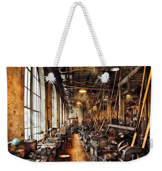 Machinist - Machine Shop Circa 1900's Weekender Tote Bag