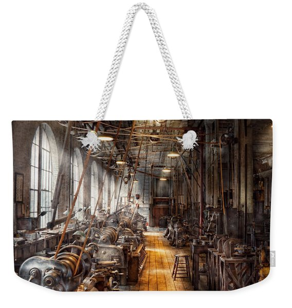 Machinist - Welcome To The Workshop Weekender Tote Bag
