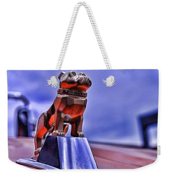 Mack The Bulldog Mascot Weekender Tote Bag