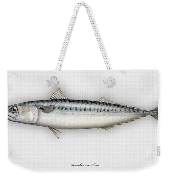 Mackerel Scomber Scombrus  - Maquereau - Caballa - Sarda - Scombro - Makrilli - Seafood Art Weekender Tote Bag